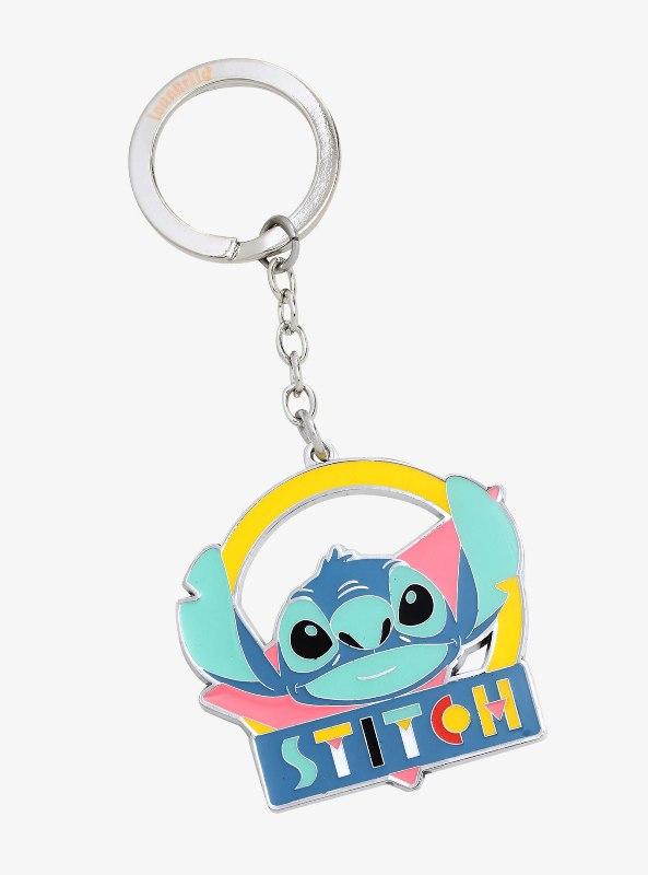 Loungefly Disney Lilo & Stitch '90s Enamel Keychain - BoxLunch Exclusive