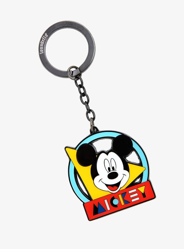 Loungefly Disney Mickey Mouse '90s Enamel Keychain - BoxLunch Exclusive