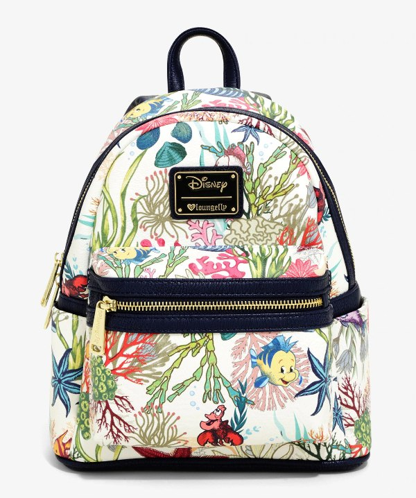 Loungefly Disney The Little Mermaid Under The Sea Mini Backpack - BoxLunch Exclusive