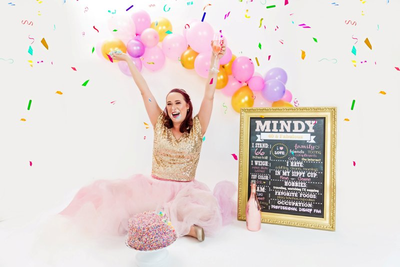 My 40th Birthday Cake Smash Photo Shoot