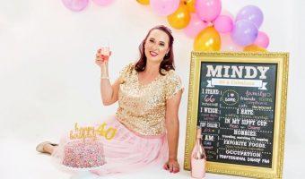 My 40th Birthday Cake Smash Photo Shoot