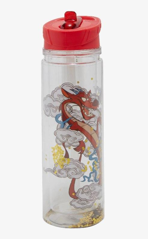 Disney Mulan Glitter Water Bottle