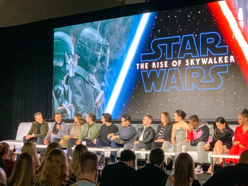 Billy Dee Williams at the global press conference for STAR WARS: THE RISE OF SKYWALKER