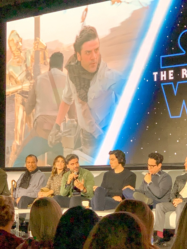 Oscar Isaac at the global press conference for STAR WARS: THE RISE OF SKYWALKER