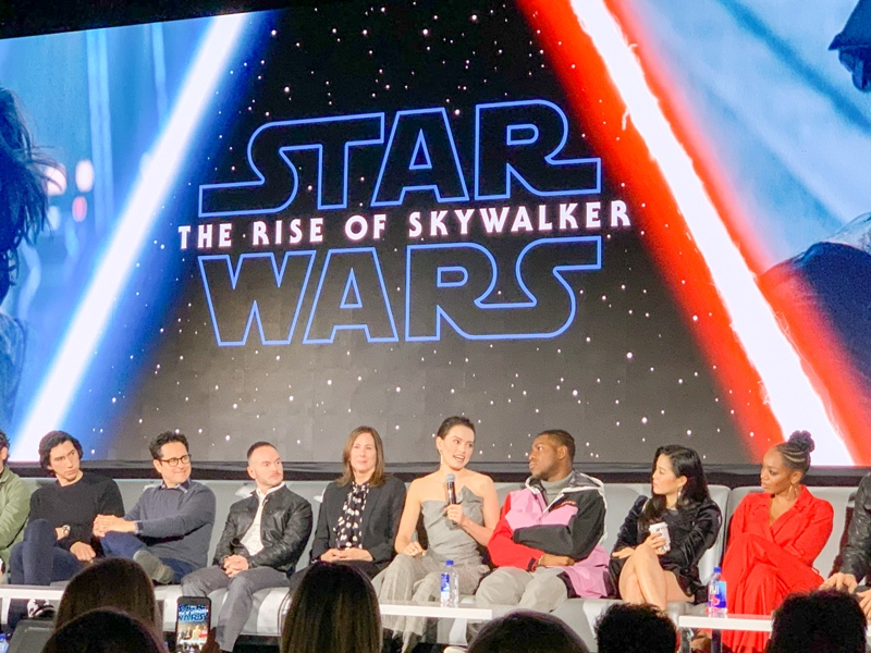 Daisy Ridley at the global press conference for STAR WARS: THE RISE OF SKYWALKER