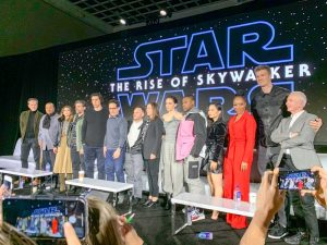 Group photo of the Cast of STAR WARS: THE RISE OF SKYWALKER