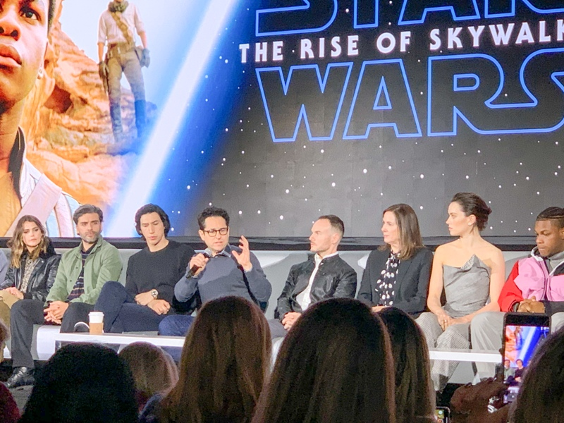 JJ Abrams at the global press conference for STAR WARS: THE RISE OF SKYWALKER