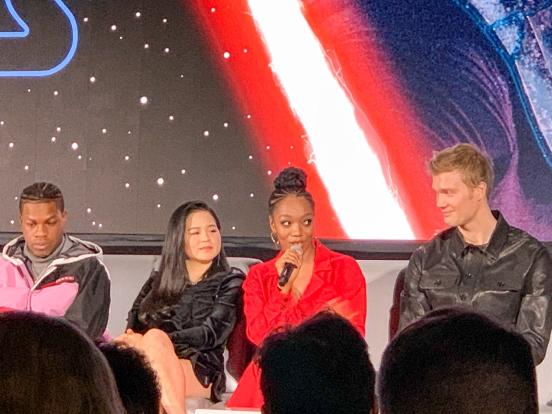 Naomi Ackie at the global press conference for STAR WARS: THE RISE OF SKYWALKER