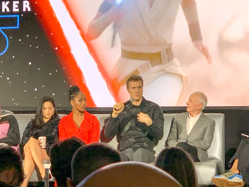 Joonas Suotamo at the global press conference for STAR WARS: THE RISE OF SKYWALKER