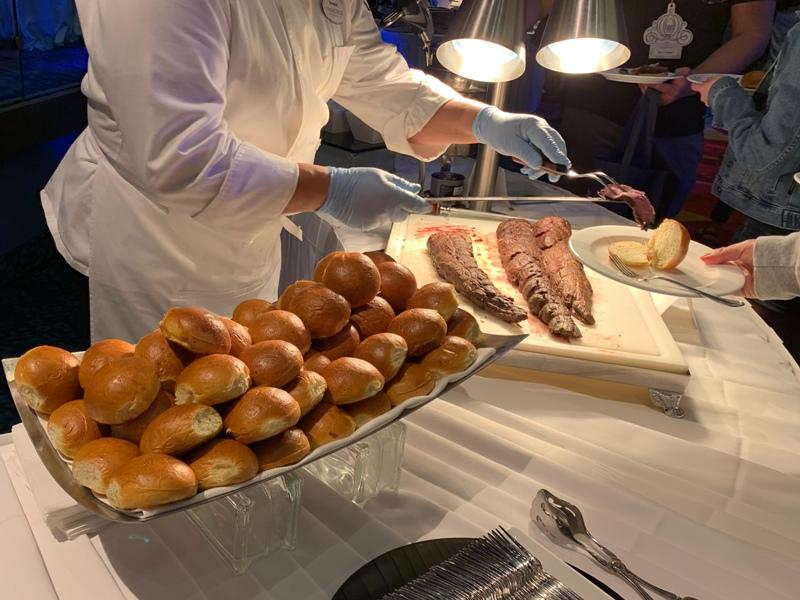 Filet carving station at Disneyland weddings showcase