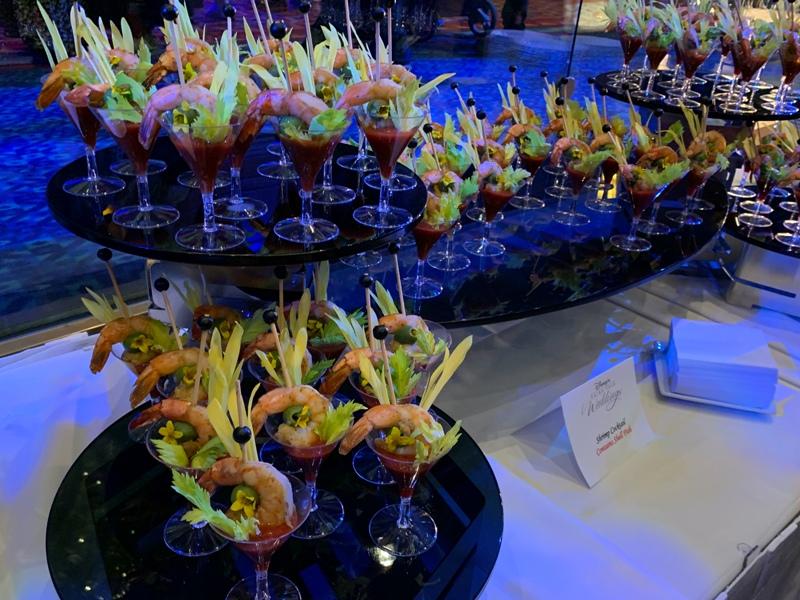 Shrimp Cocktail at Disneyland weddings showcase