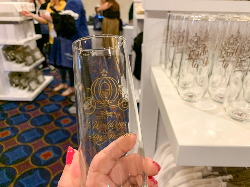 Disney wedding toasting flutes
