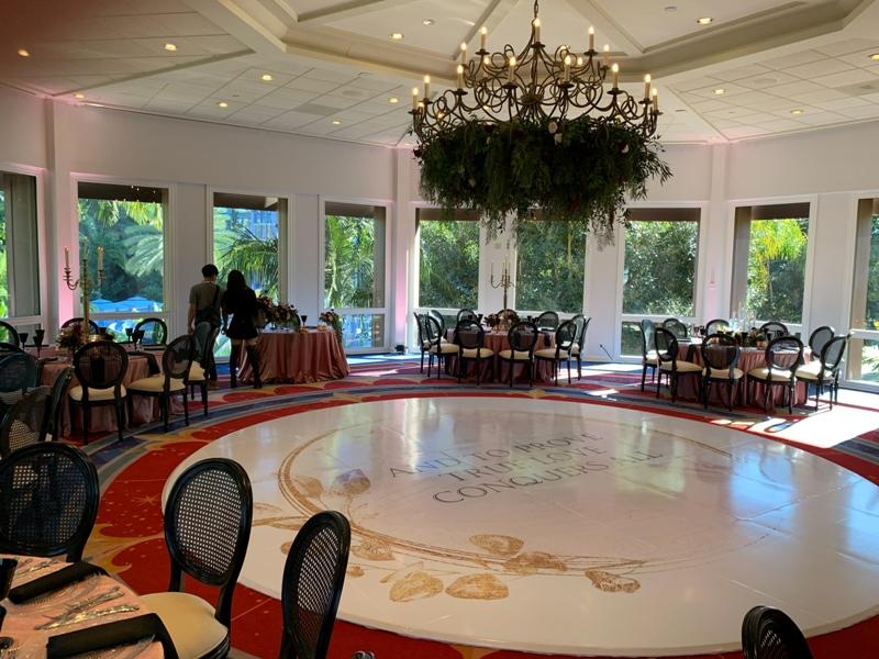 Disneyland Hotel Sleeping Beauty Pavilion Wedding Reception