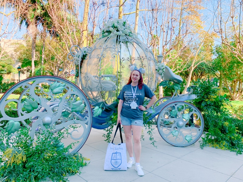 Disneyland wedding crystal carriage