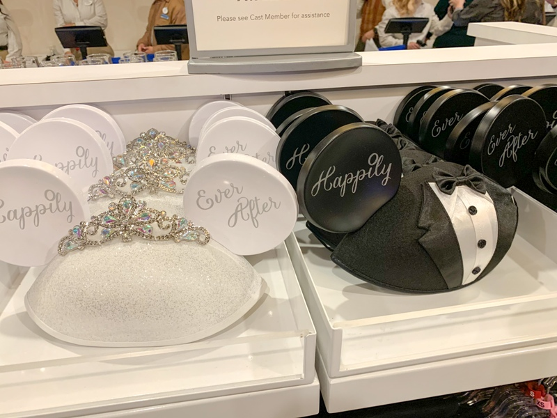 Disney wedding bride and groom ears