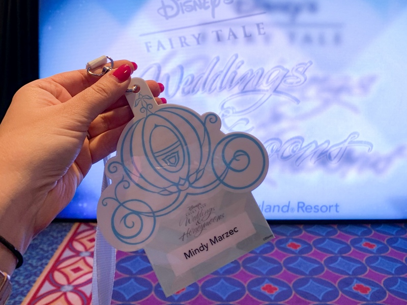 Disneyland wedding showcase name badge