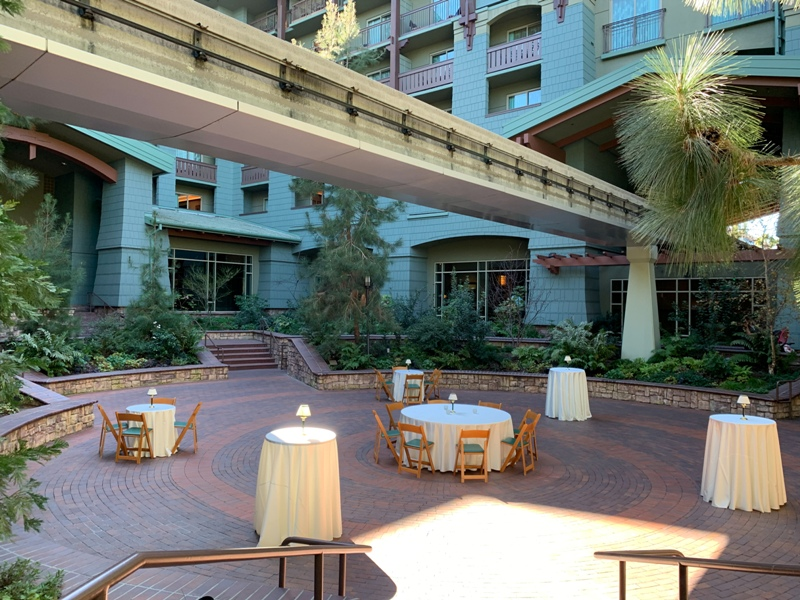 Disney's Grand Californian Hotel Brisa Courtyard wedding