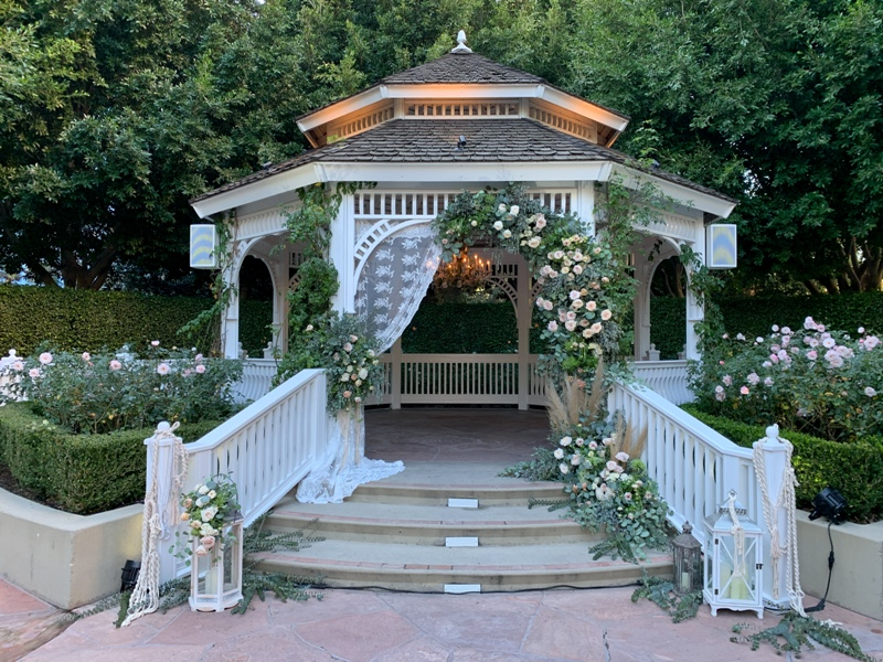 Disneyland Hotel Rose Court Garden wedding