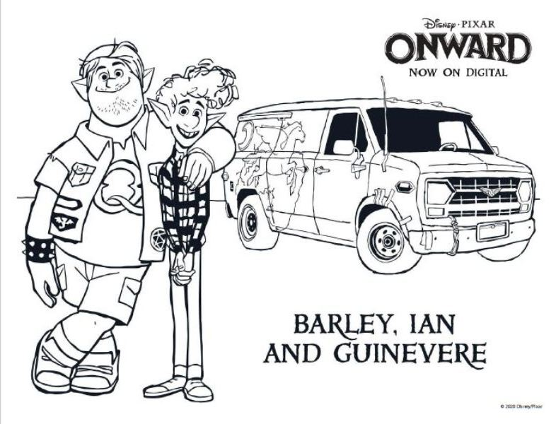 ONWARD Coloring Pages and Printable Activities