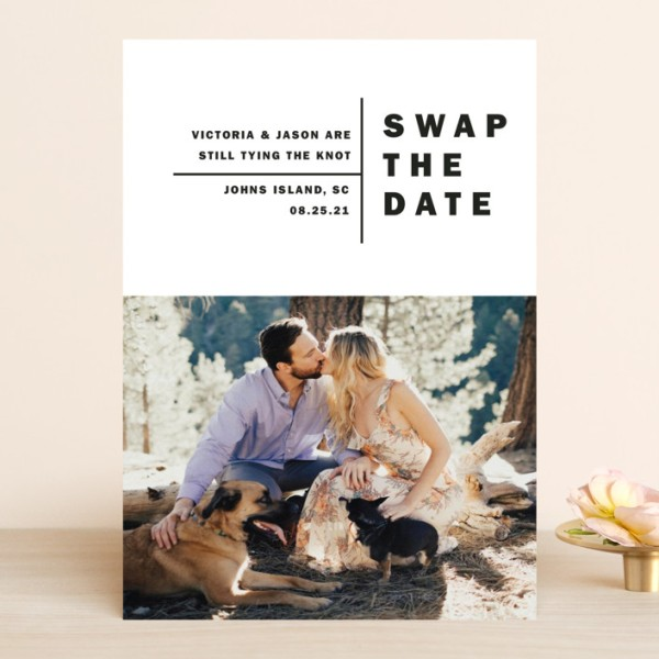 """Where to Order """"Change the Date"""" Wedding Announcements"""