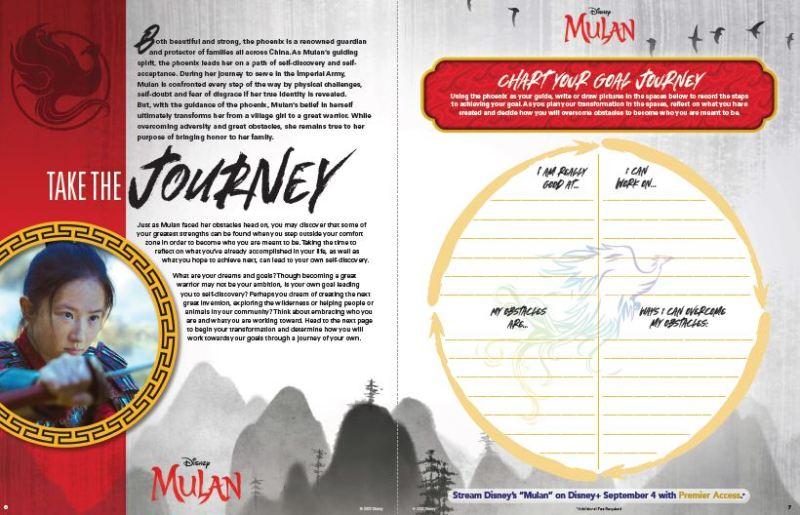 Live Action Mulan activity page