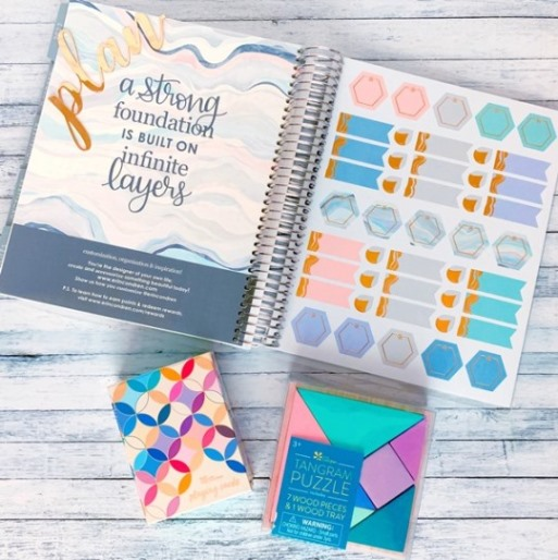 Collection of items from Erin Condren with white background