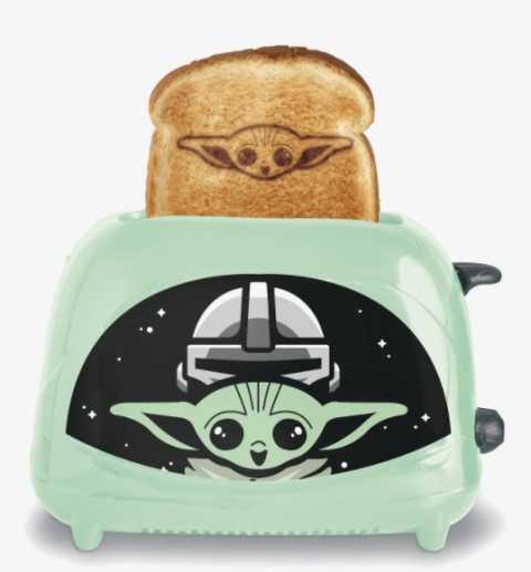 Green toaster featuring The Child from The Mandalorian