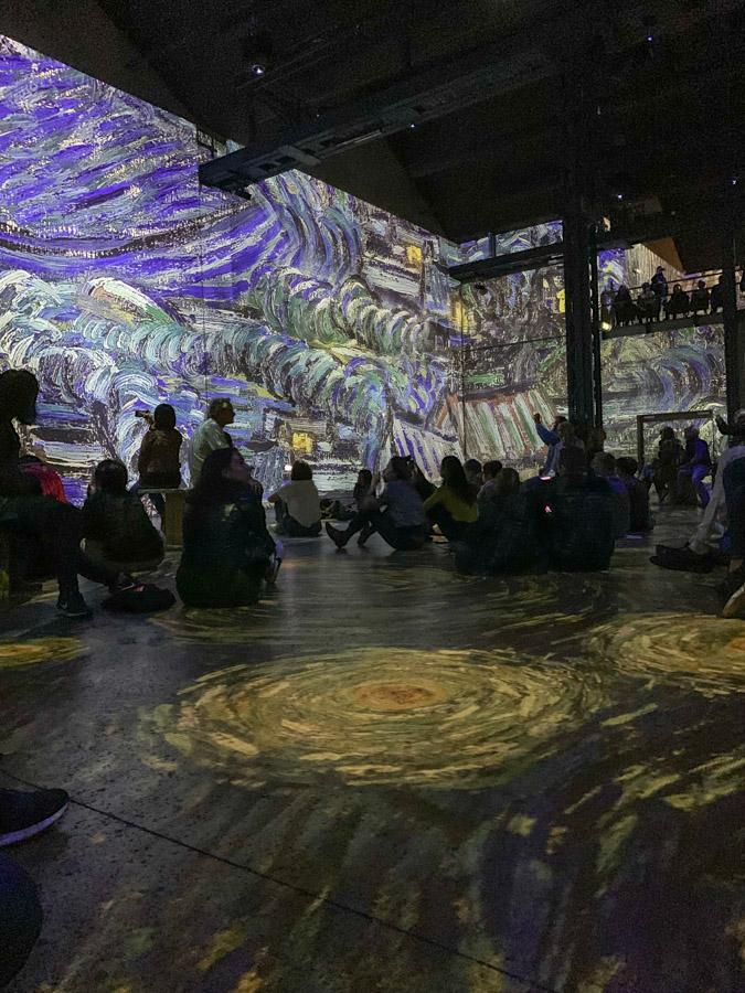 Inside of Atelier des Lumières