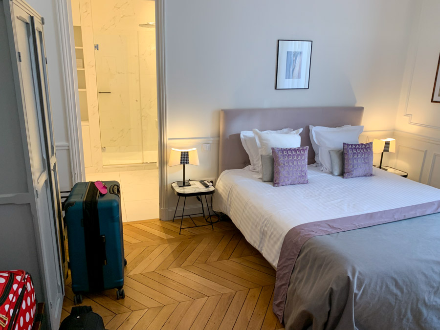 Interior of hotel room at Relais 12bis
