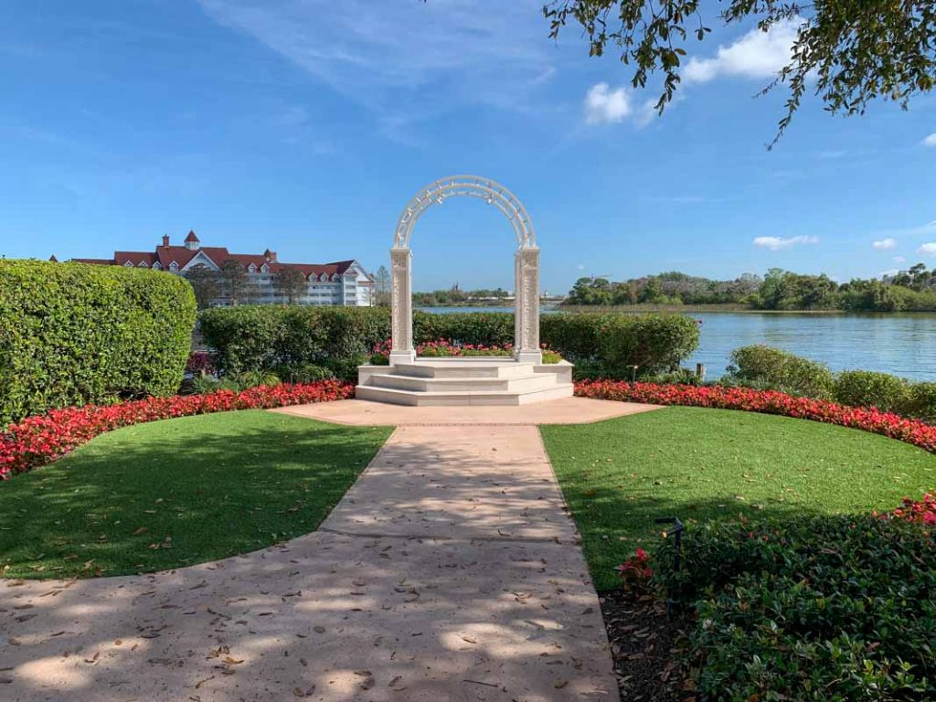 wide shot of picture point at disney's wedding pavilion