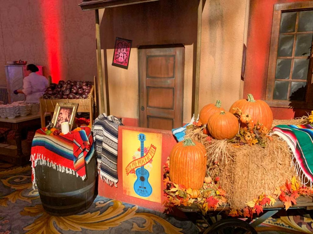 Photo area themed to the movie Coco