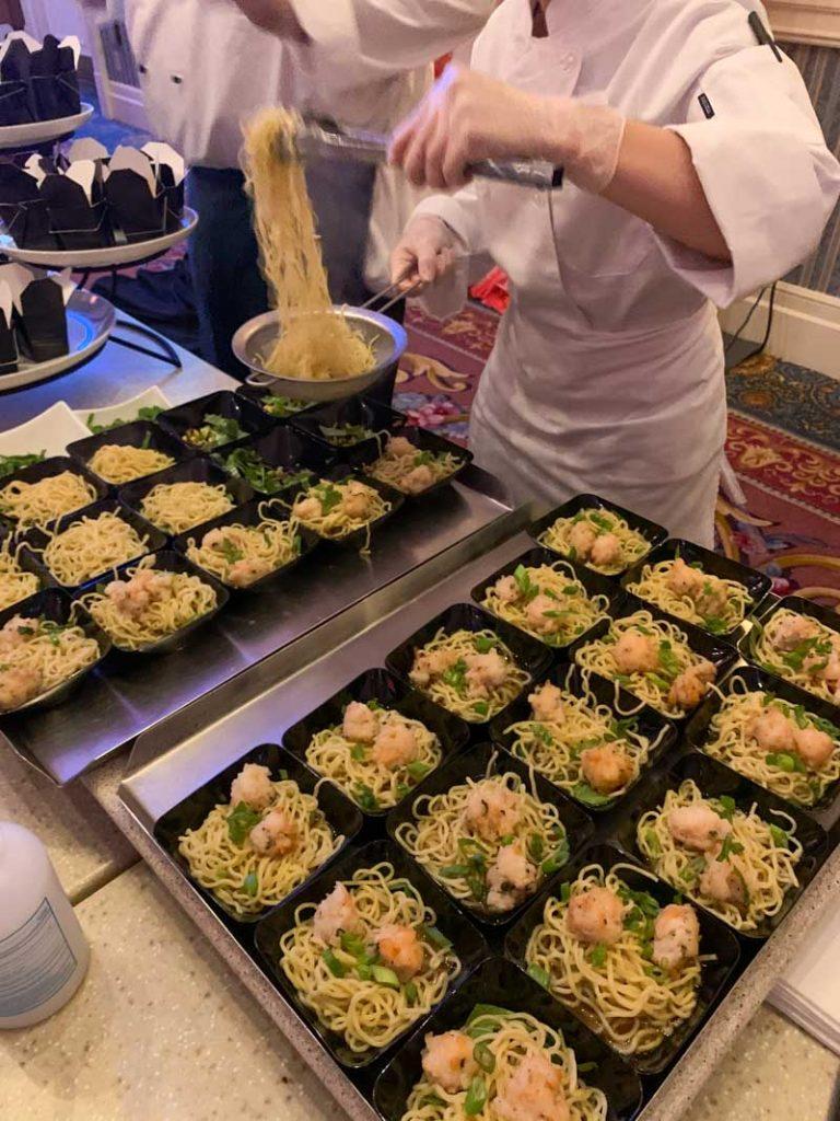 Bowls of noodle soup