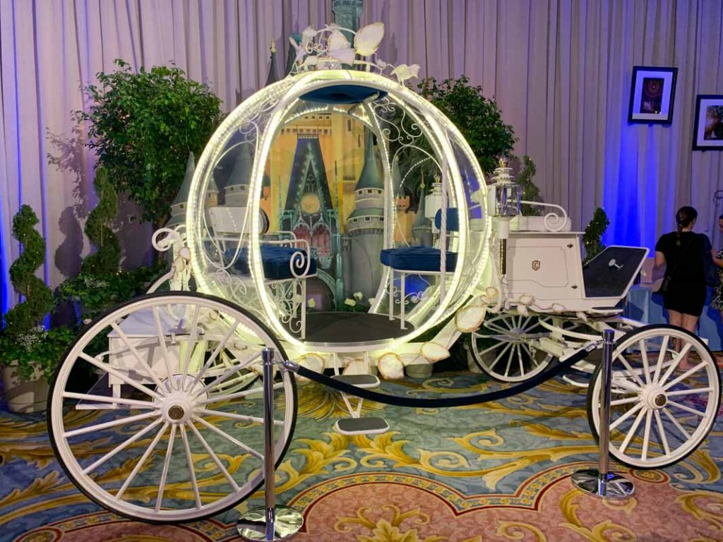 Close up of Cinderella carriage