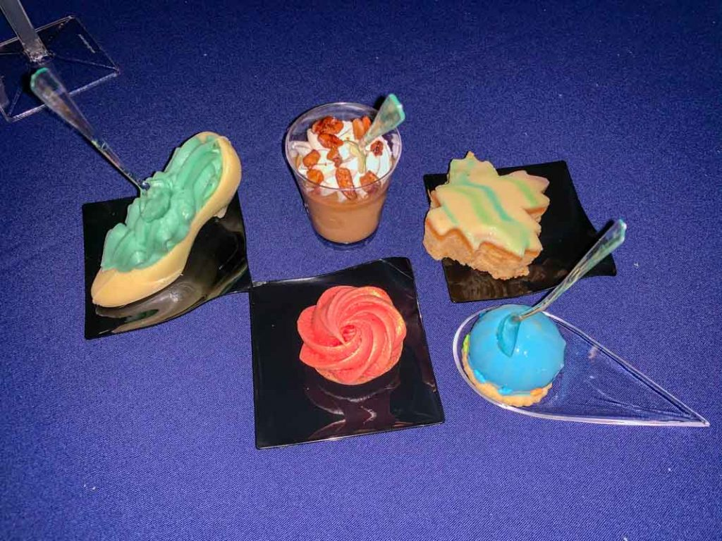 selection of various wedding desserts