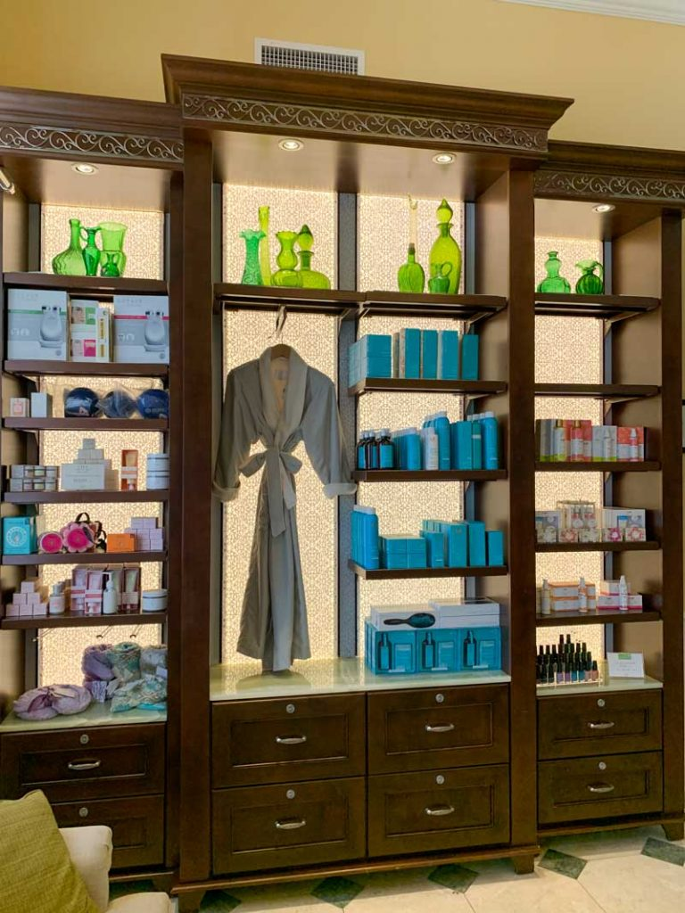 Selection of merchandise available at senses spa
