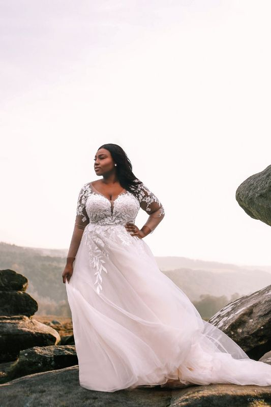 Bride wearing wedding gown inspired by Disney Princess Pocahontas