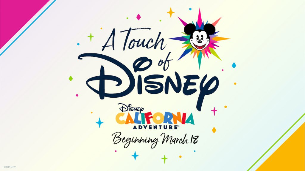 A Touch of Disney logo featuring bright colors and Mickey Mouse face
