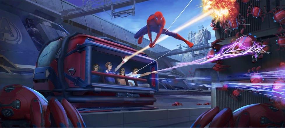 Concept art of Spider-Man 3D attraction