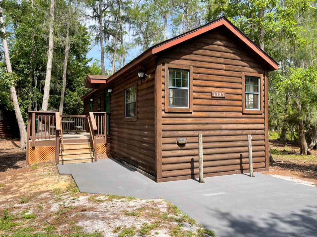 Exterior of cabin at Disney's Fort Wilderness