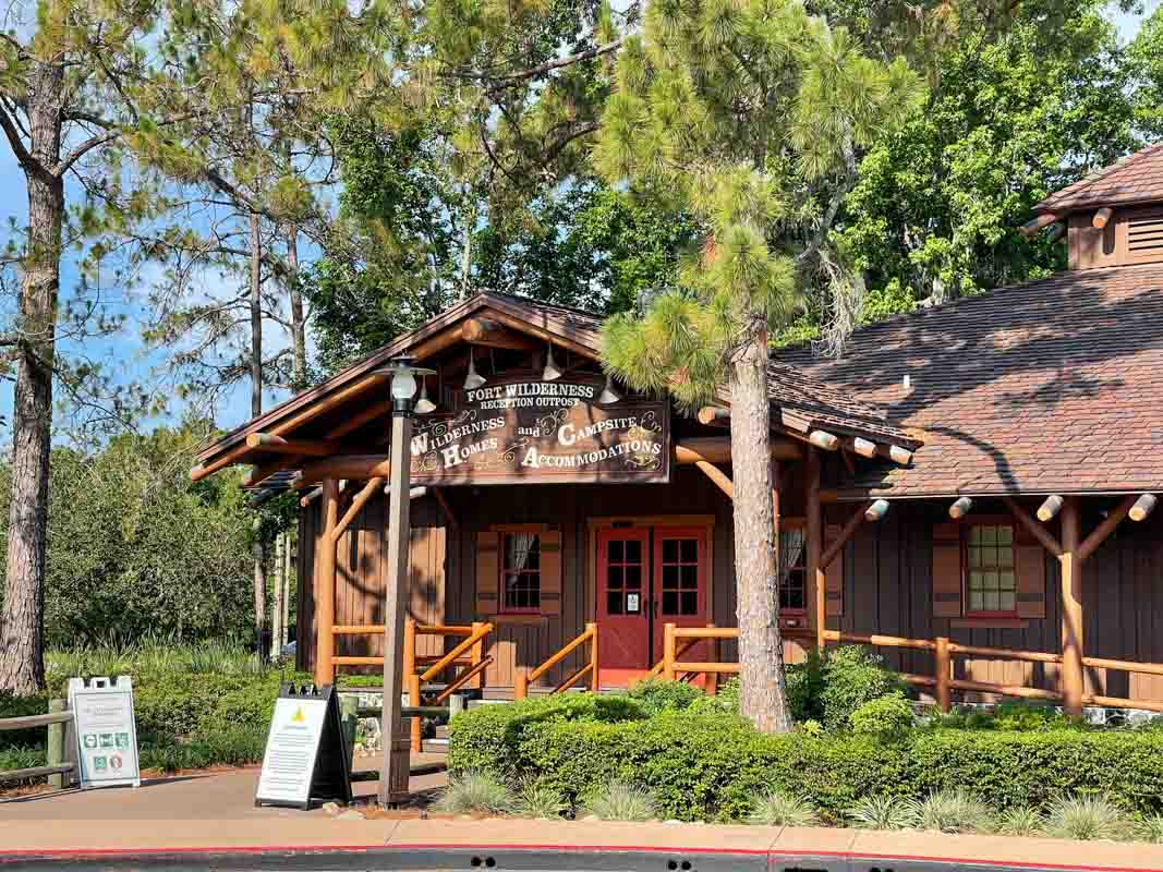 Entrance to lobby at Disney's Fort Wilderness