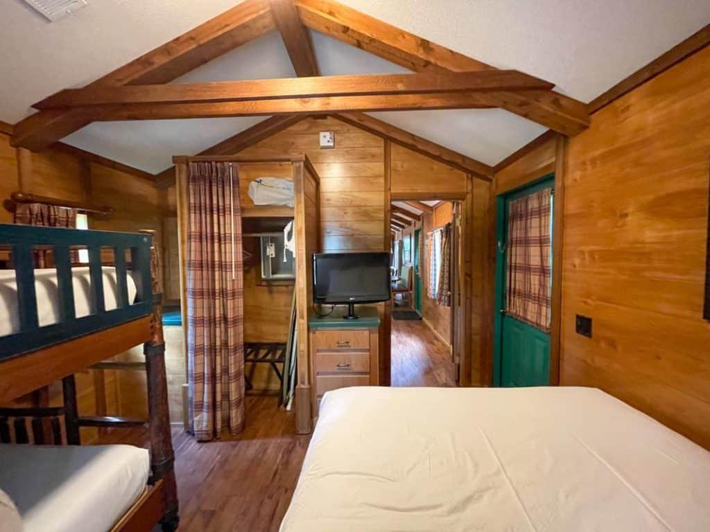 Bedroom of Fort Wilderness Cabin