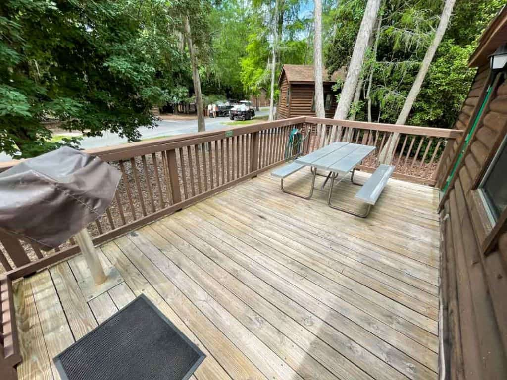 View of cabin deck from the entrance