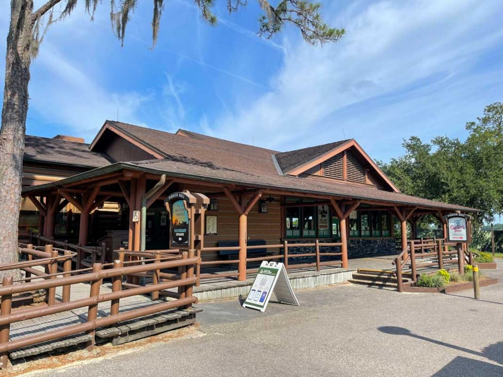 Exterior of dining area at Disney's Fort Wilderness