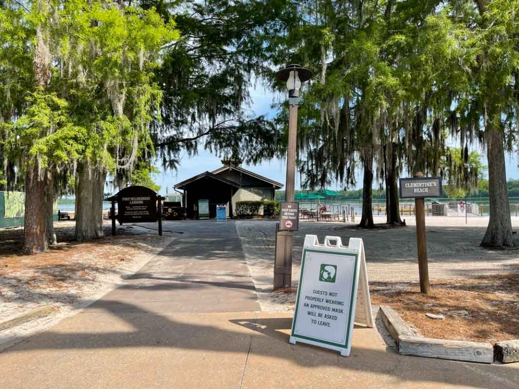 The boat launch area of Disney's Fort Wilderness