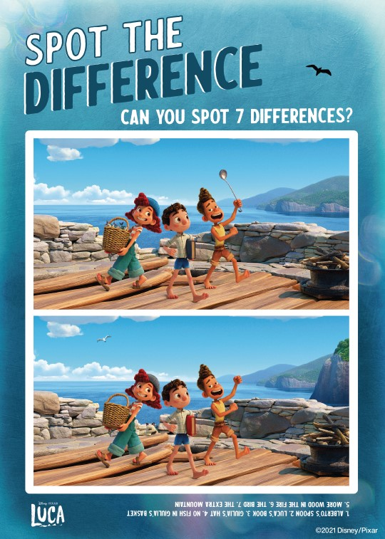 """Luca """"Spot the difference"""" game"""